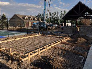 Concrete patio prep and pumping