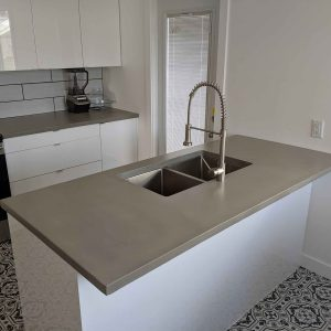 Straight Grey Countertops
