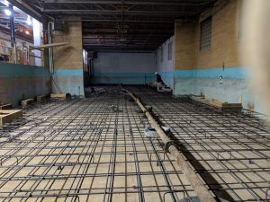 Thick commercial slab pouring/pumping