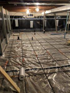 Basement concrete prep work