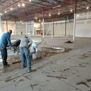 Commercial concrete prep grind