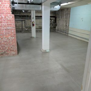 Commercial concrete floor overlay refurb