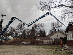 Concrete residential pumping