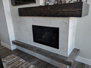 Hanging Concrete Fireplace Hearth