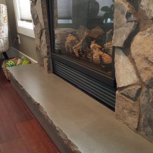 Light Grey Fireplace Hearth