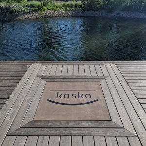Precast Concrete Dock Pad With Customer Name Inset