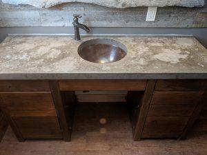 Rustic Concrete Vanity Top
