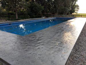 Slate stamped pool deck