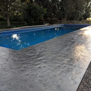 Slate stamped pool deck