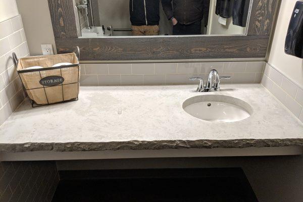 White & Grey Concrete Vanity Countertop
