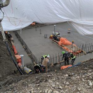 Commercial Concrete Foundation Slab
