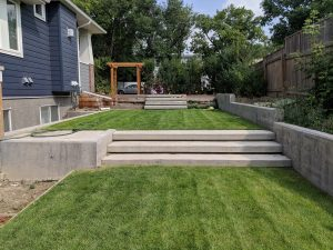 Broomed Floating Stairs and Retaining Walls