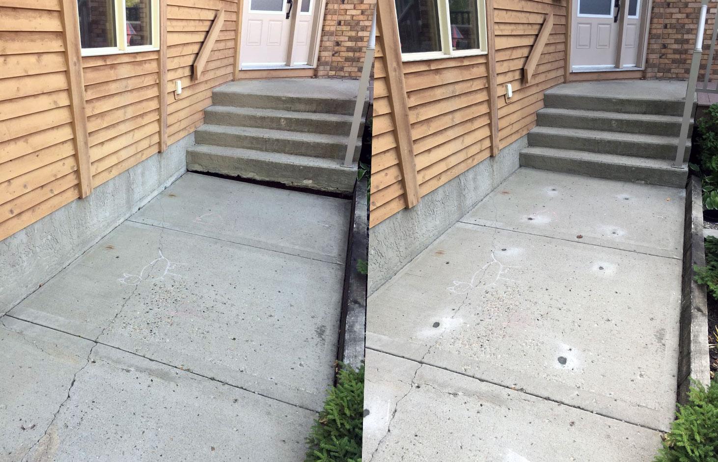 Lethbridge Sidewalk Lifting Leveling Before After