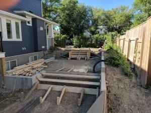 Concrete Curb Retaining Wall 1