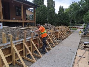 Concrete Curb Retaining Wall 14